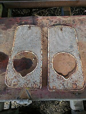 Pair Of Original Front Grills With Light Holes Removedfrom Fordson Super Major