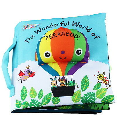 The Wonderful World of Peek-A-Boo Interactive Cloth Book