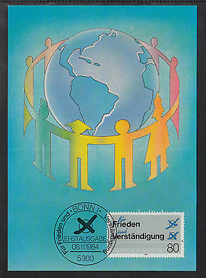 A-70) beautiful Maxi Card MC MK Germany 1984 - For Peace and Understanding
