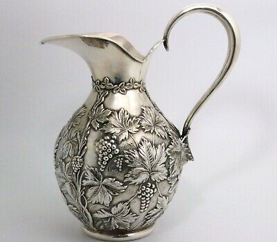 Spanish Sterling Silver Pitcher (.915/1000) Grape Vine