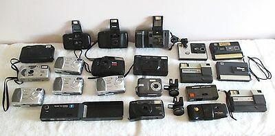 Lot of 21 Kodak Cameras Disc Medalist Advantix EasyShare Digital Vintage + Lens
