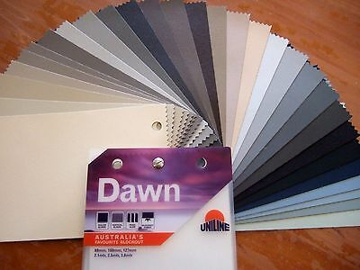 Vertical Blind Fabric Colour Samples In Dawn Blockout Up To 10 For $1.00
