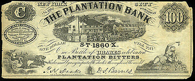 100.00 1860 Drakes Plantation Bitters ADVERTISING Note **LOOK**