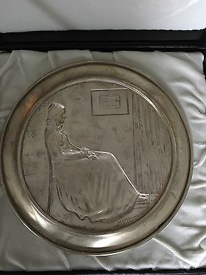 Sterling Silver George Washington Mint 1972 Mother's Day Plate