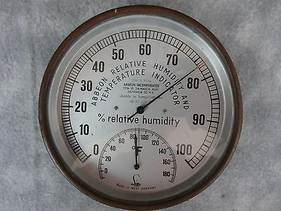 Vtg Abbeon Inc M2A4 Relative Humidity / Temperature Indicator Gauge West Germany