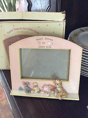 "4"" X 6"" Gund New Adorable ""thank Heaven For Little Girls""  Pink Picture Frame"