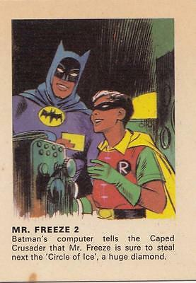 Batman card from Weeties and Rice Krinkles Mr. Freeze 2