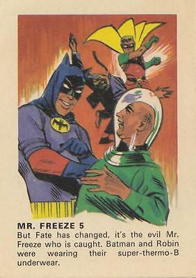 Batman card from Weeties and Rice Krinkles Mr. Freeze 5