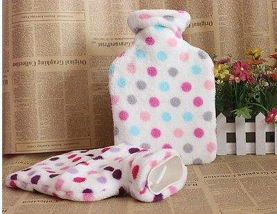 1 Litre Hot Water Bottle Winter Warm Knitted Cover Natural Rubber