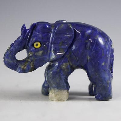 Carved Lapis Lazuli Elephant Figurine Lot 349