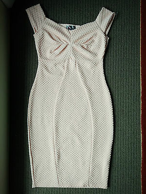 BNWT NEW LIPSY PINK NUDE BODYCON DRESS - SIZE UK/AU 8 (Review Size Guide)