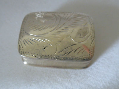 Sterling Silver 925 Ladies Engraved Pill Box 10.5G