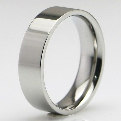 50x Comfort-fit 6mm Band Classic Stainless Steel Wedding Rings for Men and Women