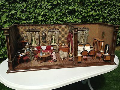 Antike Biedermeier Puppenstube