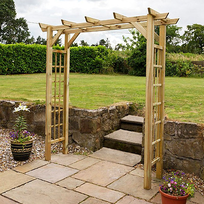 Wooden Garden Arch Archway Lattice Climbing Plants Arbour Patio Entrance Paths