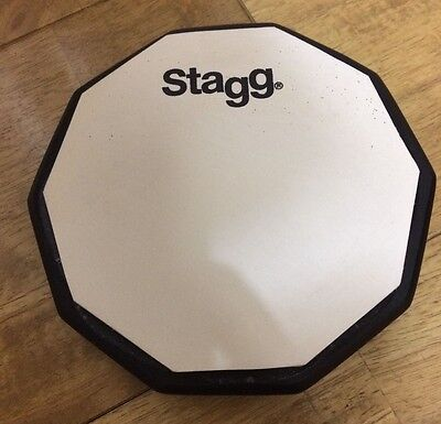 "New Stagg 12"" Drum Practice Pad Drumming // Free Shipping"
