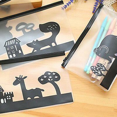 Creative Translucent Bag File Bag Document Bag Pen Container 20.4x13.5cm