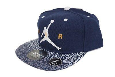 Jordan Elevate Embroidered Adjustable Snapback Hat Cap Navy Blue White Youth $28