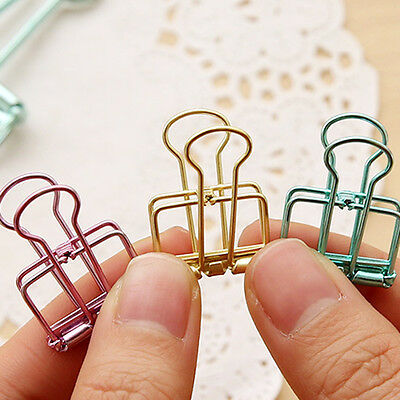 3Pcs/set Binder Clip Metal Classic Office Stationery Paper Documents Clip Hot