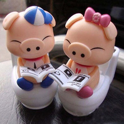 2 pairs of Animal Toy Pig Toilet Nohohon Solar ECO Bubble Figure Limited RARE