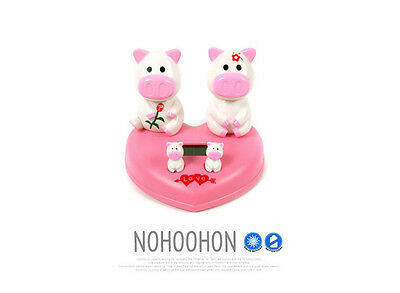 Animal Toy Pig Twins Heart Charming Nohohon Solar ECO Japan Figure Limited RARE