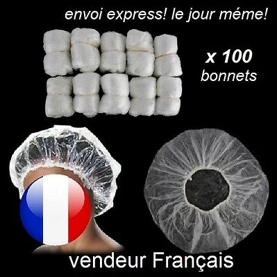 100x bonnet de douche jetables Protection Cheveux bain Shower Cap hotel voyage