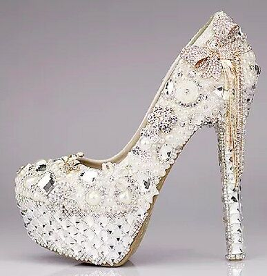 Luxury Rhinestone beaded Heels size 7.5