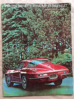Vintage 1966 Chevrolet Corvette Sting Ray Original Color Brochure Catalog
