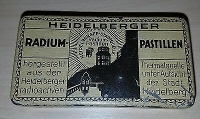 German 20s-30s Radium Pills Tin, Radioactive Quackery, Even Dosage for Children