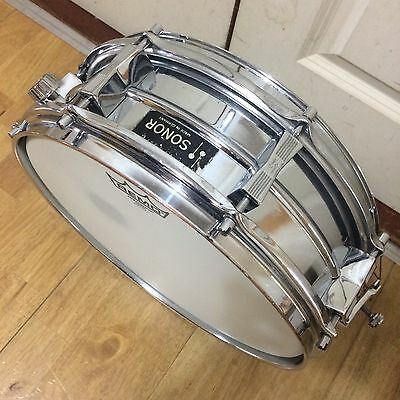 """Vintage Sonor 14"""" x 5"""" Seamless Steel Snare Drum // Free Shipping"""