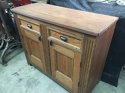 Antique Cabinet Dry Sink Cupboard Pie Safe Primitive Pine