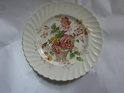 Vintage Royal Staffordshire Clarice Cliff Chelsea Rose Round Plate