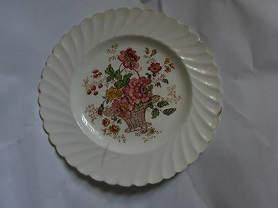 """8"""" Vintage Royal Staffordshire Clarice Cliff Chelsea Rose Round Plate"""