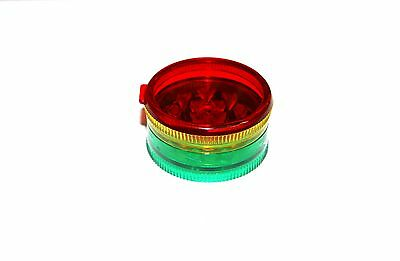 Herb Tobacco Acrylic Jamaica Grinder 3 Parts Magnetic Stash plastic free UK post