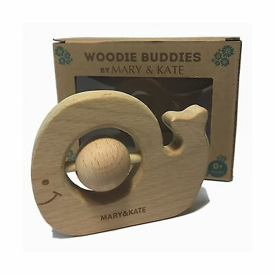 Wooden Baby Teether - BPA-free - Montessori Toy - CPSC Certified - 100% Natural