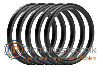 O-Ring Nullring Rundring 35,0 x 3,0 mm EPDM PV FDA 70 Shore A schwarz (5 St.)