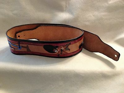 Looney Tune Hand Carved Guitar Strap