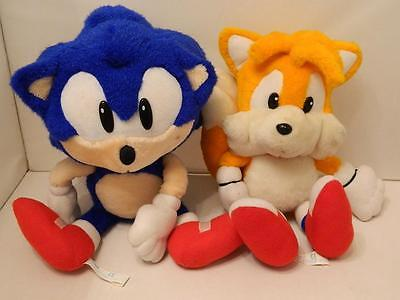 Official Sega Sonic the Hedgehog and Tails Plush Toys - 1992/1993 Gaming