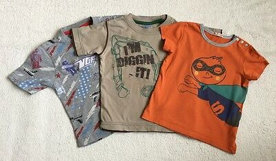 ***Dpam BHS No Fear baby boy 3x t shirts tops 18-24 months (1,5-2 y) VGC***