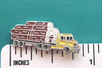LOGGING truck - hat pin , tie tac , lapel pin , hatpin GIFT BOXED