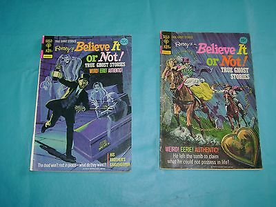 Lot of 2 Gold Key Vintage Comic Books 1972 & 1974 Ripley's  Selling Many Comics