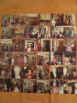 Lot of 36 HALLOWEEN PARTY PHOTOGRAPHS Photos VINTAGE 1978 Costumes