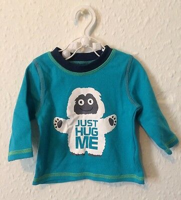 Baby Boys George @ Asda Long Sleeved Turquoise Top. Aged 0-3 Months