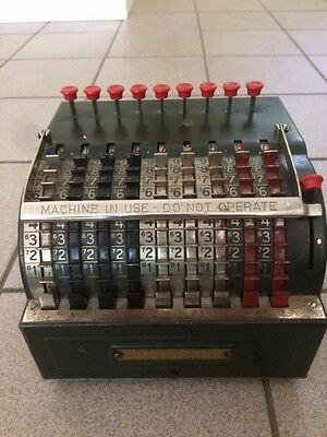 Vintage Early 1920s Star Adding Machine Manufactured by Todd Protectograph Co