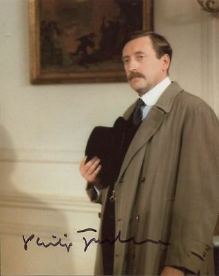Philip Jackson In Person Signed Photo - Poirot - AG22
