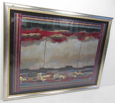 Large Mid-Century Modern Melanie Boone Abstract Painting (8521)NJ