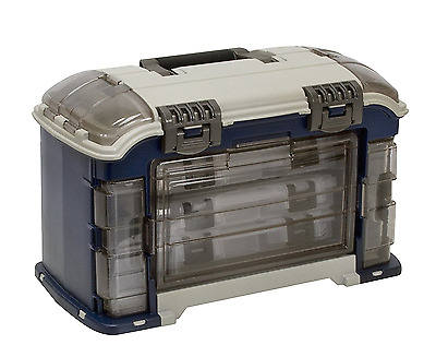 Plano Angled Fishing Tackle Box Storage 3 Stowaway Utility Box System NEW