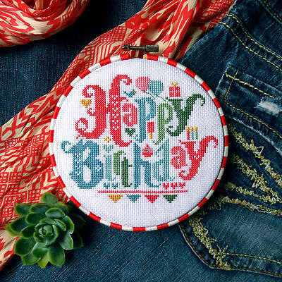 Happy Birthday Counted Cross Stitch Pattern - Chart Only