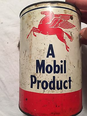 MOBIL Oil Can With Pegasus A MOBIL Product Oil Auto Vintage Collectible Petro