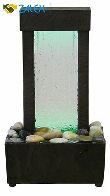 Relaxation Fountain Desktop Waterfall Table Indoor LED Water Colorful Home Decor